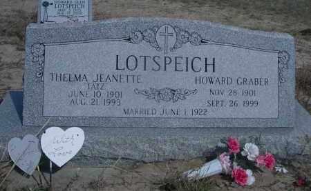 LOTSPEICH, HOWARD GRABER - Sheridan County, Nebraska | HOWARD GRABER LOTSPEICH - Nebraska Gravestone Photos