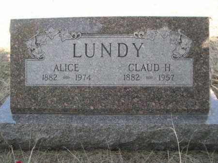 LUNDY, ALICE - Sheridan County, Nebraska | ALICE LUNDY - Nebraska Gravestone Photos