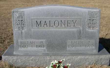 MALONEY, RALPH A. - Sheridan County, Nebraska   RALPH A. MALONEY - Nebraska Gravestone Photos