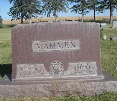 MAMMEN, ANTON F. - Sheridan County, Nebraska | ANTON F. MAMMEN - Nebraska Gravestone Photos