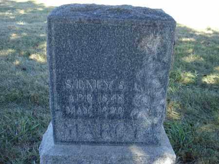 MARCY, SIDNEY S. - Sheridan County, Nebraska   SIDNEY S. MARCY - Nebraska Gravestone Photos