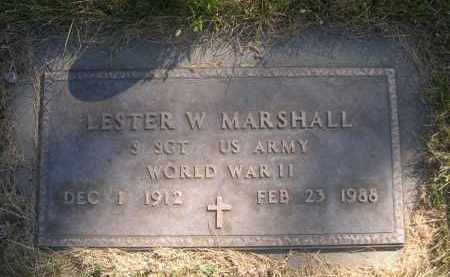 MARSHALL, LESTER W. - Sheridan County, Nebraska   LESTER W. MARSHALL - Nebraska Gravestone Photos