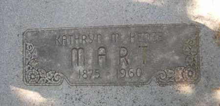 MART, KATHRYN M. - Sheridan County, Nebraska | KATHRYN M. MART - Nebraska Gravestone Photos