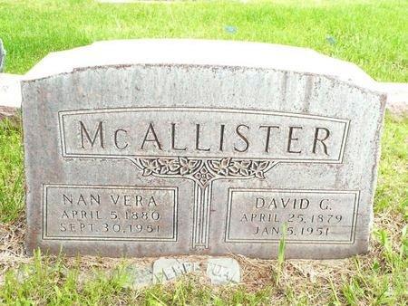 MCALLISTER, DAVID AND NAN - Sheridan County, Nebraska | DAVID AND NAN MCALLISTER - Nebraska Gravestone Photos