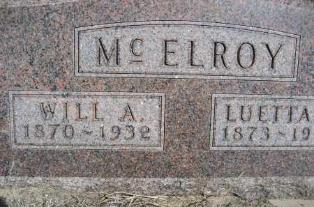 MCELROY, WILL A. - Sheridan County, Nebraska | WILL A. MCELROY - Nebraska Gravestone Photos