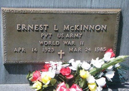 MCKINNON, ERNEST L. (MILITARY) - Sheridan County, Nebraska | ERNEST L. (MILITARY) MCKINNON - Nebraska Gravestone Photos