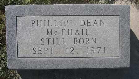 MCPHAIL, PHILLIP DEAN - Sheridan County, Nebraska   PHILLIP DEAN MCPHAIL - Nebraska Gravestone Photos