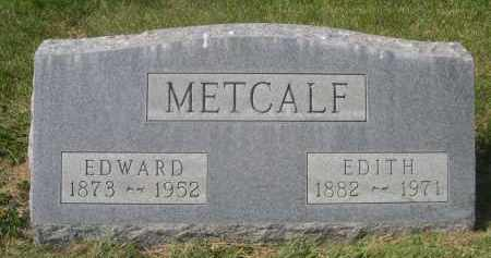 METCALF, EDWARD - Sheridan County, Nebraska | EDWARD METCALF - Nebraska Gravestone Photos