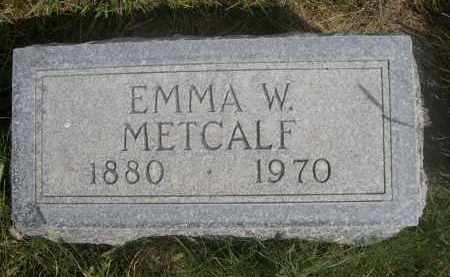 METCALF, EMMA W. - Sheridan County, Nebraska | EMMA W. METCALF - Nebraska Gravestone Photos