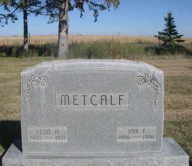 METCALF, INA F. - Sheridan County, Nebraska | INA F. METCALF - Nebraska Gravestone Photos