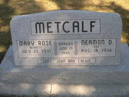 BENNETT METCALF, MARY ROSE - Sheridan County, Nebraska   MARY ROSE BENNETT METCALF - Nebraska Gravestone Photos