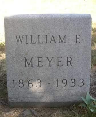 MEYER, WILLIAM F. - Sheridan County, Nebraska   WILLIAM F. MEYER - Nebraska Gravestone Photos