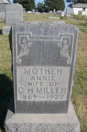 MILLER, ANNIE - Sheridan County, Nebraska | ANNIE MILLER - Nebraska Gravestone Photos