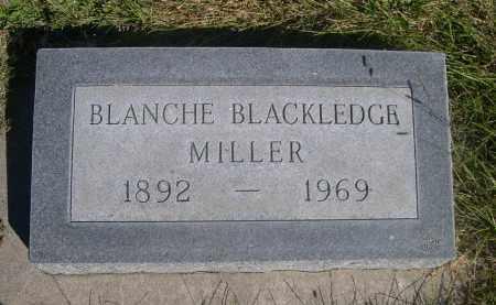 BLACKLEDGE MILLER, BLANCHE - Sheridan County, Nebraska   BLANCHE BLACKLEDGE MILLER - Nebraska Gravestone Photos