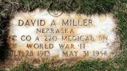 MILLER, DAVID A. - Sheridan County, Nebraska | DAVID A. MILLER - Nebraska Gravestone Photos