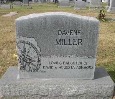 ASMORE MILLER, DAVENE - Sheridan County, Nebraska | DAVENE ASMORE MILLER - Nebraska Gravestone Photos