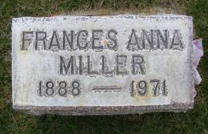 MILLER, FRANCES ANNA - Sheridan County, Nebraska   FRANCES ANNA MILLER - Nebraska Gravestone Photos