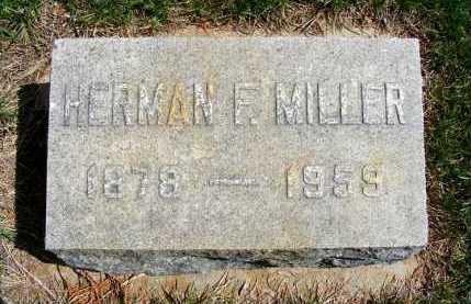 MILLER, HERMAN F. - Sheridan County, Nebraska   HERMAN F. MILLER - Nebraska Gravestone Photos