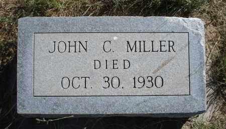 MILLER, JOHN C. - Sheridan County, Nebraska   JOHN C. MILLER - Nebraska Gravestone Photos