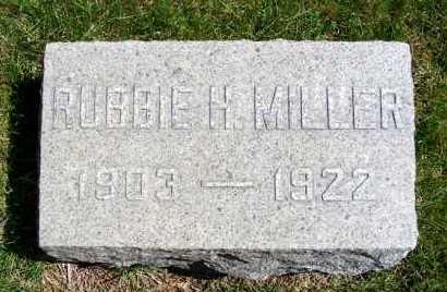 MILLER, ROBBIE H. - Sheridan County, Nebraska | ROBBIE H. MILLER - Nebraska Gravestone Photos