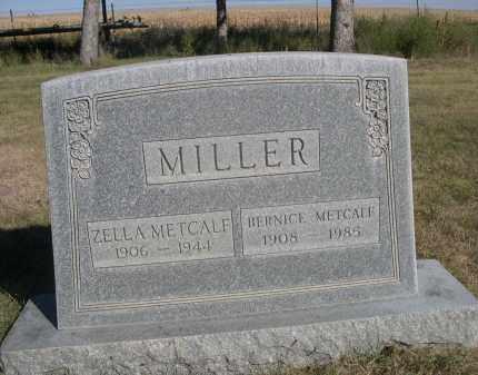 MILLER, BERNICE METCALF - Sheridan County, Nebraska   BERNICE METCALF MILLER - Nebraska Gravestone Photos