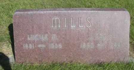 MILLS, J. TROY - Sheridan County, Nebraska | J. TROY MILLS - Nebraska Gravestone Photos
