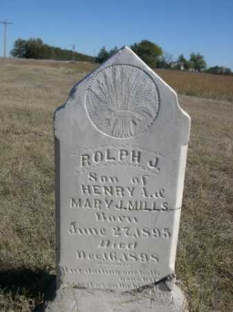 MILLS, ROLPH J. - Sheridan County, Nebraska | ROLPH J. MILLS - Nebraska Gravestone Photos
