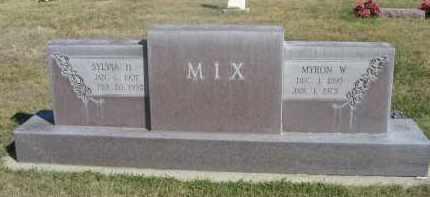 MIX, MYRON W. - Sheridan County, Nebraska | MYRON W. MIX - Nebraska Gravestone Photos