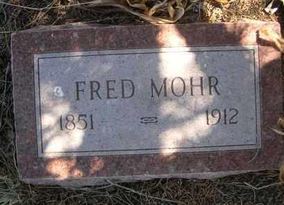 MOHR, FRED - Sheridan County, Nebraska | FRED MOHR - Nebraska Gravestone Photos