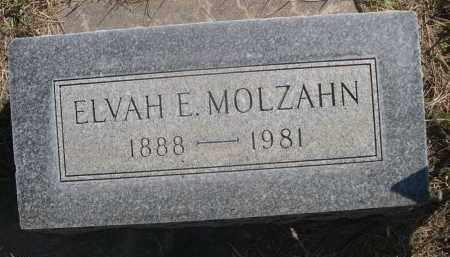 MOLZAHN, ELVAH E. - Sheridan County, Nebraska | ELVAH E. MOLZAHN - Nebraska Gravestone Photos