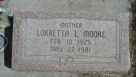 MOORE, LORETTA LAURA - Sheridan County, Nebraska   LORETTA LAURA MOORE - Nebraska Gravestone Photos