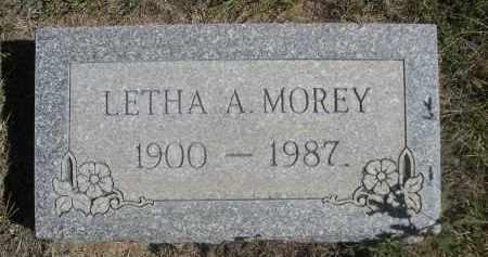 MOREY, LETHA A. - Sheridan County, Nebraska | LETHA A. MOREY - Nebraska Gravestone Photos