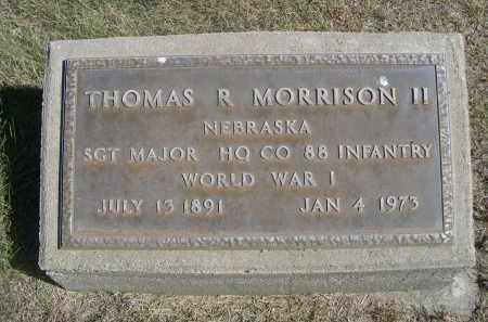 MORRISON, THOMAS II R. - Sheridan County, Nebraska | THOMAS II R. MORRISON - Nebraska Gravestone Photos