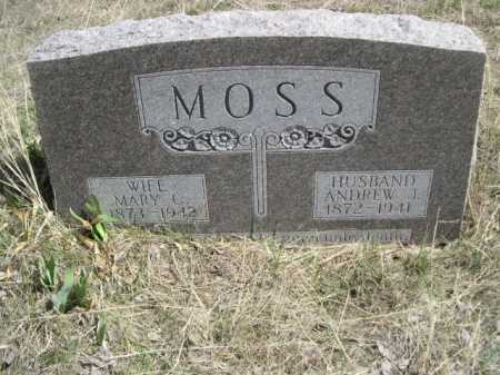 MOSS, ANDREW I. - Sheridan County, Nebraska | ANDREW I. MOSS - Nebraska Gravestone Photos