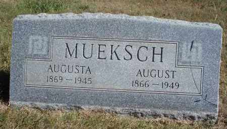 MUEKSCH, AUGUST - Sheridan County, Nebraska | AUGUST MUEKSCH - Nebraska Gravestone Photos