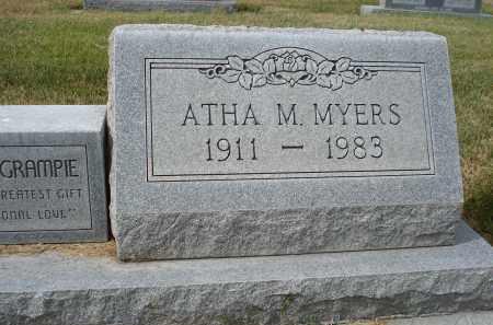 MYERS, ATHA M. - Sheridan County, Nebraska | ATHA M. MYERS - Nebraska Gravestone Photos