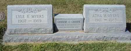 MYERS, LYLE E. - Sheridan County, Nebraska   LYLE E. MYERS - Nebraska Gravestone Photos