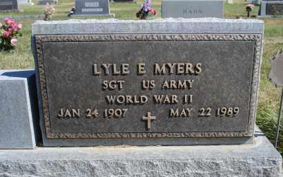 MYERS, LYLE E. - Sheridan County, Nebraska | LYLE E. MYERS - Nebraska Gravestone Photos