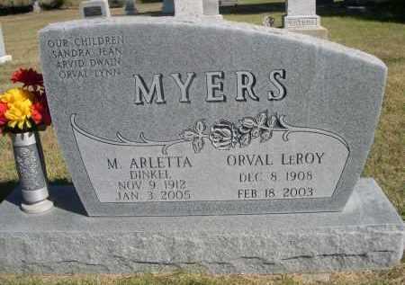 DINKEL MYERS, M. ARLETTA - Sheridan County, Nebraska   M. ARLETTA DINKEL MYERS - Nebraska Gravestone Photos