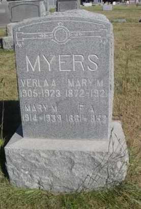 MYERS, MARY M. - Sheridan County, Nebraska | MARY M. MYERS - Nebraska Gravestone Photos