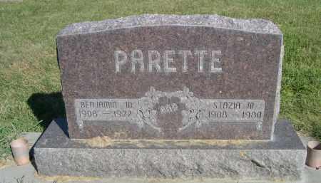 PARETTE, BENJAMIN - Sheridan County, Nebraska | BENJAMIN PARETTE - Nebraska Gravestone Photos