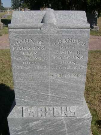 PARSONS, JOHN R. - Sheridan County, Nebraska   JOHN R. PARSONS - Nebraska Gravestone Photos