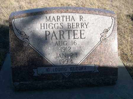 HIGGS PARTEE, MARTHA R. - Sheridan County, Nebraska | MARTHA R. HIGGS PARTEE - Nebraska Gravestone Photos