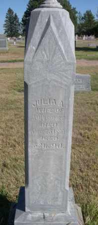 PASSMORE, JULIA A. - Sheridan County, Nebraska | JULIA A. PASSMORE - Nebraska Gravestone Photos