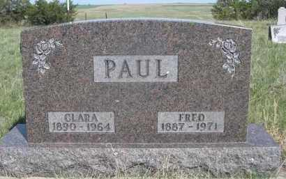 PAUL, FRED - Sheridan County, Nebraska | FRED PAUL - Nebraska Gravestone Photos