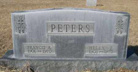 PETERS, FRANCIS A. - Sheridan County, Nebraska   FRANCIS A. PETERS - Nebraska Gravestone Photos