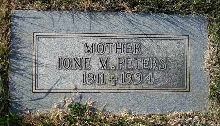 PETERS, IONE M. - Sheridan County, Nebraska   IONE M. PETERS - Nebraska Gravestone Photos