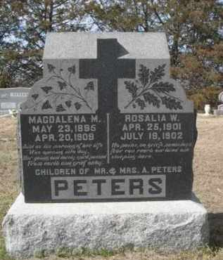 PETERS, MAGDALENA M. - Sheridan County, Nebraska | MAGDALENA M. PETERS - Nebraska Gravestone Photos