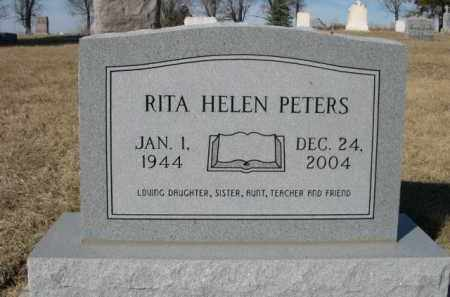 PETERS, RITA HELEN - Sheridan County, Nebraska | RITA HELEN PETERS - Nebraska Gravestone Photos