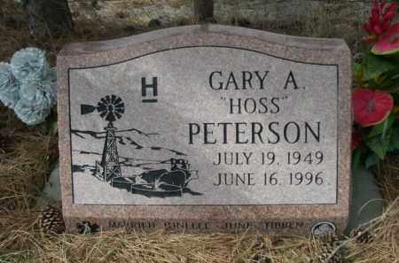 "PETERSON, GARY A. ""HOSS"" - Sheridan County, Nebraska | GARY A. ""HOSS"" PETERSON - Nebraska Gravestone Photos"